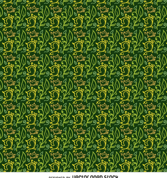 Swirl background in green and yellow - vector gratuit #362979