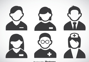 Hospital People Icons Vector - vector gratuit #363049