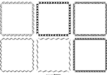Hand Drawn Frame Set - vector gratuit #363059