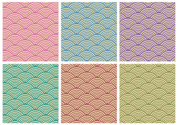Retro Pattern Vector Set - Free vector #363079