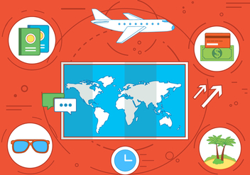 Free Travel Time Vector Illustration - бесплатный vector #363099