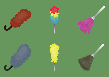 Free Feather Duster Vector Illustration - vector gratuit #363129