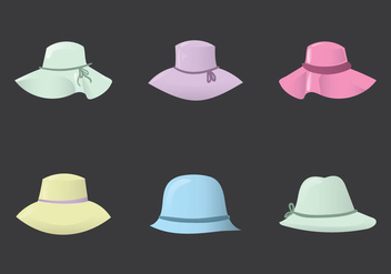 Free Ladies Hat Vector Illustration - бесплатный vector #363139