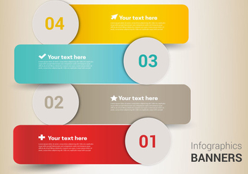 Free Infographic Banners Vector - Free vector #363159