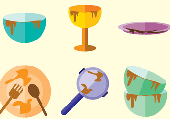Dirty Dishes Vector - vector gratuit #363199
