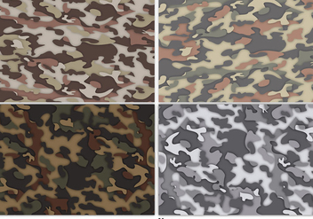 Vector Multicam Camouflage Background Set - vector gratuit #363209