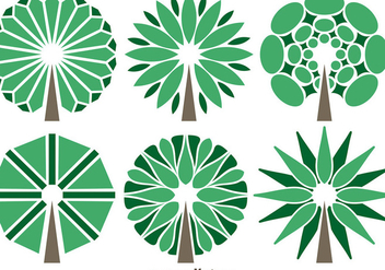 Vector Abstract Trees Set - vector gratuit #363219