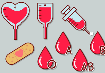 Blood Drive Vector Icon Set - vector gratuit #363289