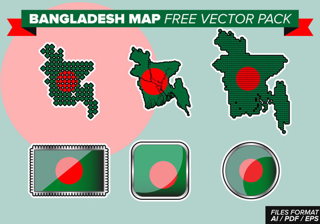 Bangladesh Map Free Vector Pack - Free vector #363309