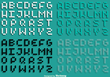 Vector Pixel Alphabet Set - бесплатный vector #363329