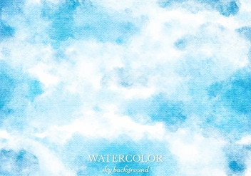Free Vector Blue Watercolor Sky Background - Free vector #363369