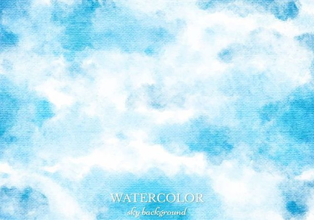 Free Vector Blue Watercolor Sky Background - бесплатный vector #363369