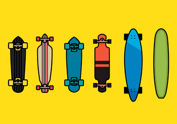 Longboard Vector Set 1 - бесплатный vector #363399