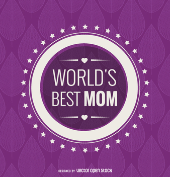 Circle world's best mom emblem - Free vector #363459