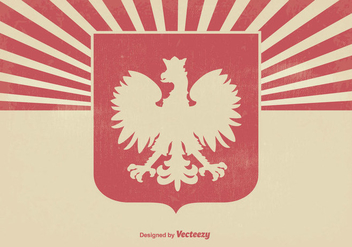 Polish Eagle Grunge Background - Free vector #363749