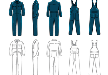 Vector Overalls for Work Safety - vector gratuit #363879
