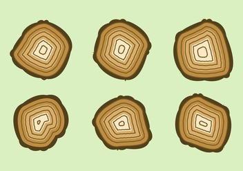 Free Tree Rings Vector Illustration #5 - Kostenloses vector #363939