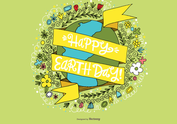 Happy Earth Day Vector - Kostenloses vector #363979