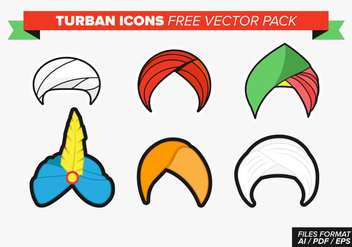 Turban Icons Free Vector Pack - vector gratuit #364049