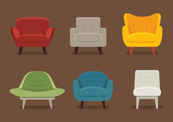 Midcentury Chair Vectors - бесплатный vector #364059