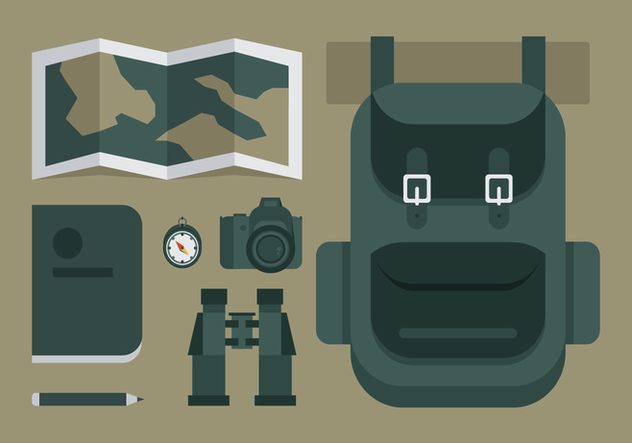 Vector Adventure Equipments - vector gratuit #364069
