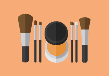 Vector Make Up Brush - vector gratuit #364179