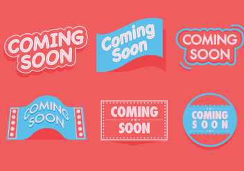 Coming Soon Vectors - vector gratuit #364199