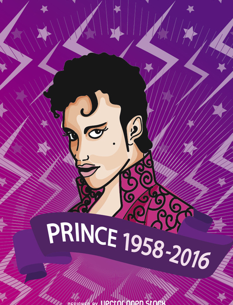Prince R.I.P commemorative poster - Free vector #364239