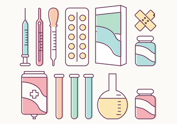Medical Vector Elements - Free vector #364309