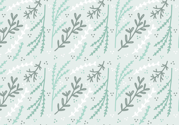 Mint Colored Plant Vector Pattern - Free vector #364319