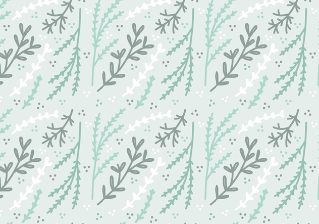 Mint Colored Plant Vector Pattern - бесплатный vector #364319