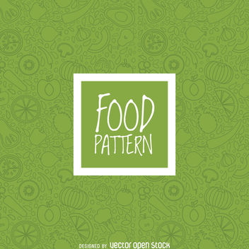 Green vegetables seamless pattern - vector gratuit #364449