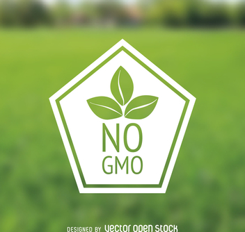 No GMO polygonal badge - vector gratuit #364489