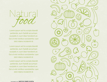 Natural food page design - vector #364499 gratis