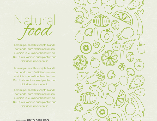 Natural food page design - Free vector #364499