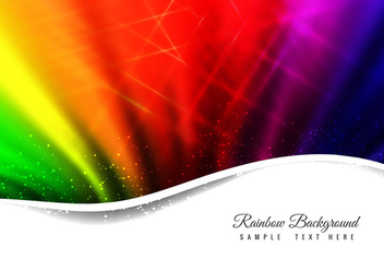 Free Vector Abstract Rainbow Background - Kostenloses vector #364549