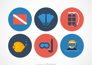 Free Diving Vector Icons - бесплатный vector #364579