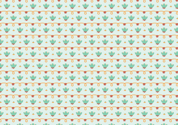 Flower Tile Pattern - Free vector #364589