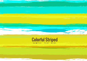 Vector Colorful Striped Free Background - бесплатный vector #364629