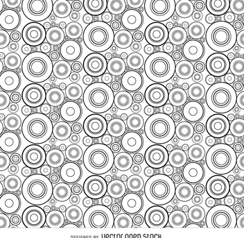 Abstract circle seamless pattern - vector gratuit #364749
