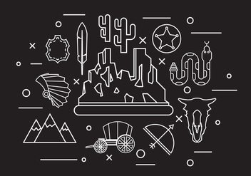 Wild West Icons - vector gratuit #364779