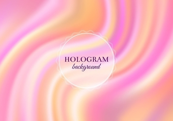 Free Vector Warm Hologram Background - Kostenloses vector #364799
