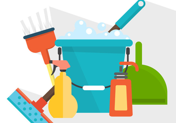 Vector Cleaning Products - vector gratuit #364809