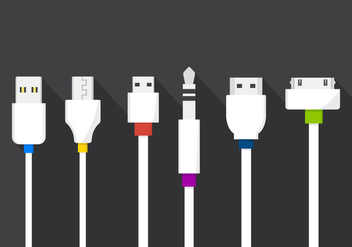 Vector Cable Plugs - Free vector #364819