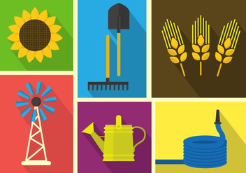 Farm Vector Illustrations - vector gratuit #364849