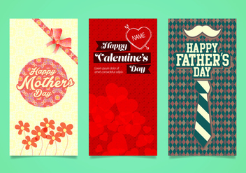 Celebration Days Card Vectors - vector #364869 gratis
