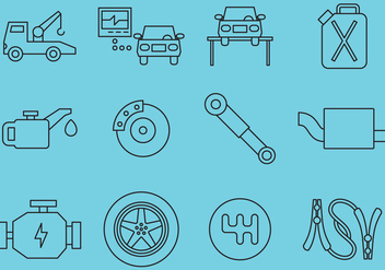 Car Maintenance Icons - vector gratuit #364929