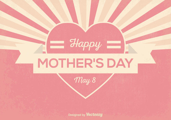 Retro Mother's Day Illustration - vector gratuit #364969