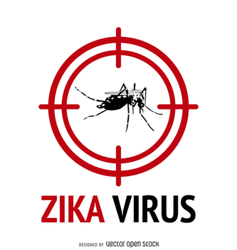 Zika virus alert with - vector gratuit #365059