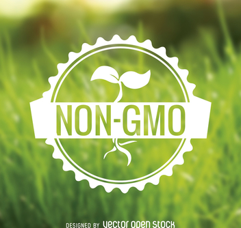 Non GMO food badge - vector gratuit #365069